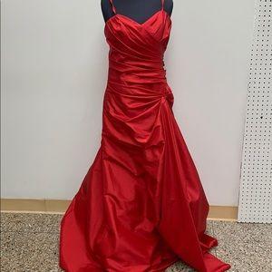 Long formal claret dress